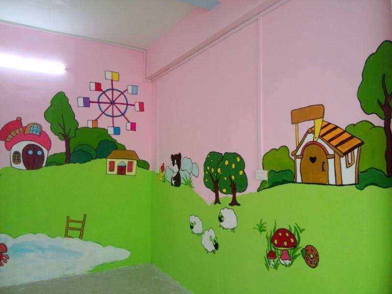 吉安户外墙体喷绘,吉安幼儿园外墙绘画,吉安美丽乡村墙画手绘
